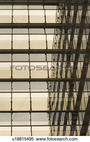 Stock Image of windows, pane, glass, reflection, close.