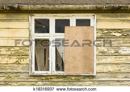Picture of Partly boarded up window k18316937.