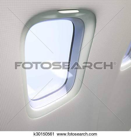 Clipart of Airplane window close.