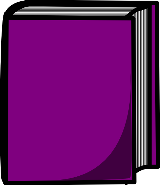 Purple Closed Book Clip Art at Clker.com.