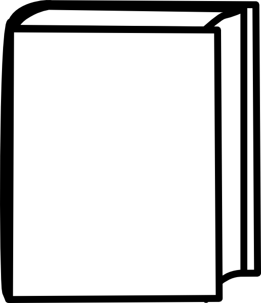 White Closed Book clip art.