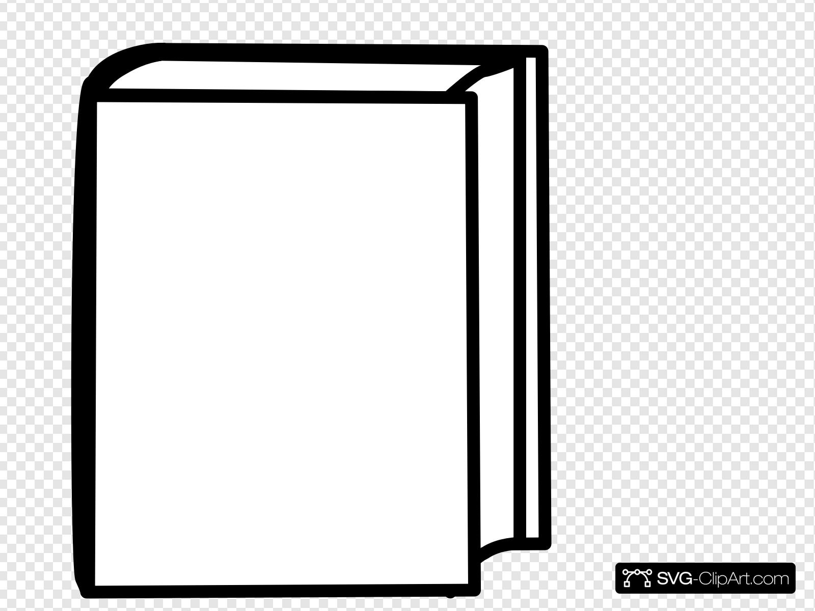 White Closed Book Clip art, Icon and SVG.