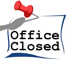 Office closed clipart.