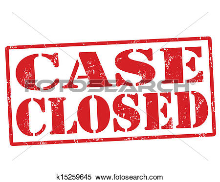 Clipart of Case Closed stamp k15259645.