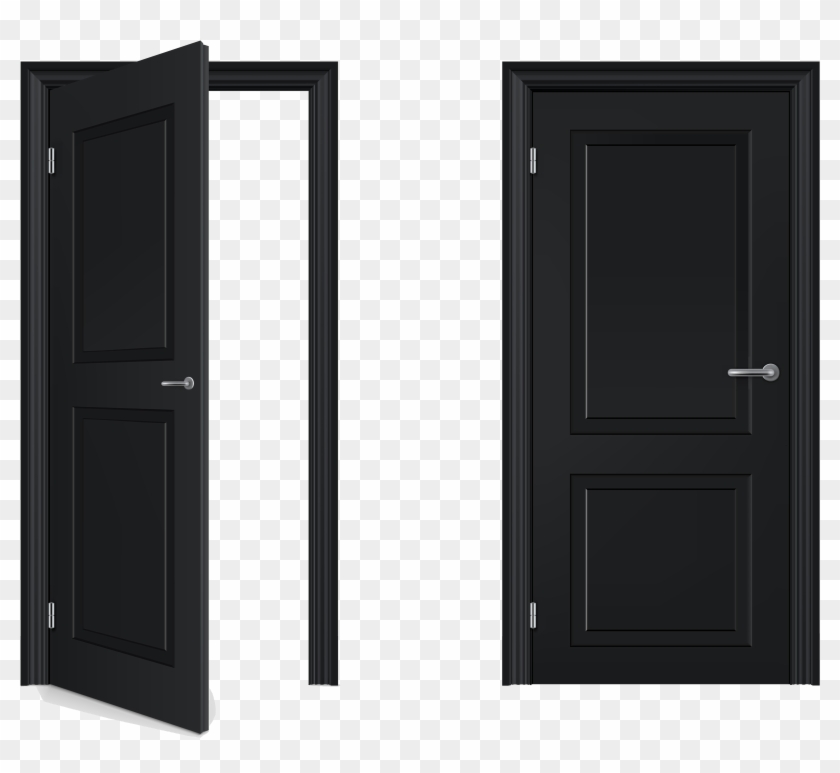 Open And Closed Door Clipart, HD Png Download.