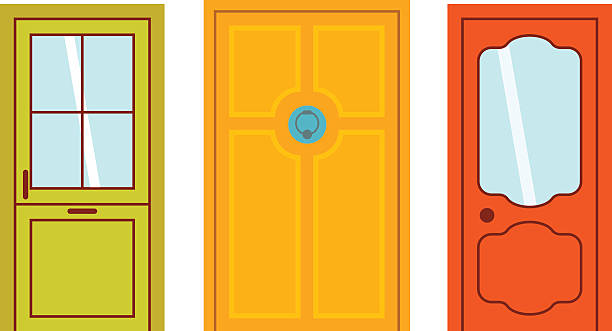 Door clipart vector.