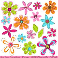 Flower clipart floral clip art floral by WinchesterLambourne.