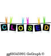 Closed Sign Clip Art.