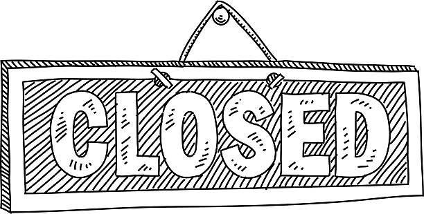 Best Closed Sign Illustrations, Royalty.