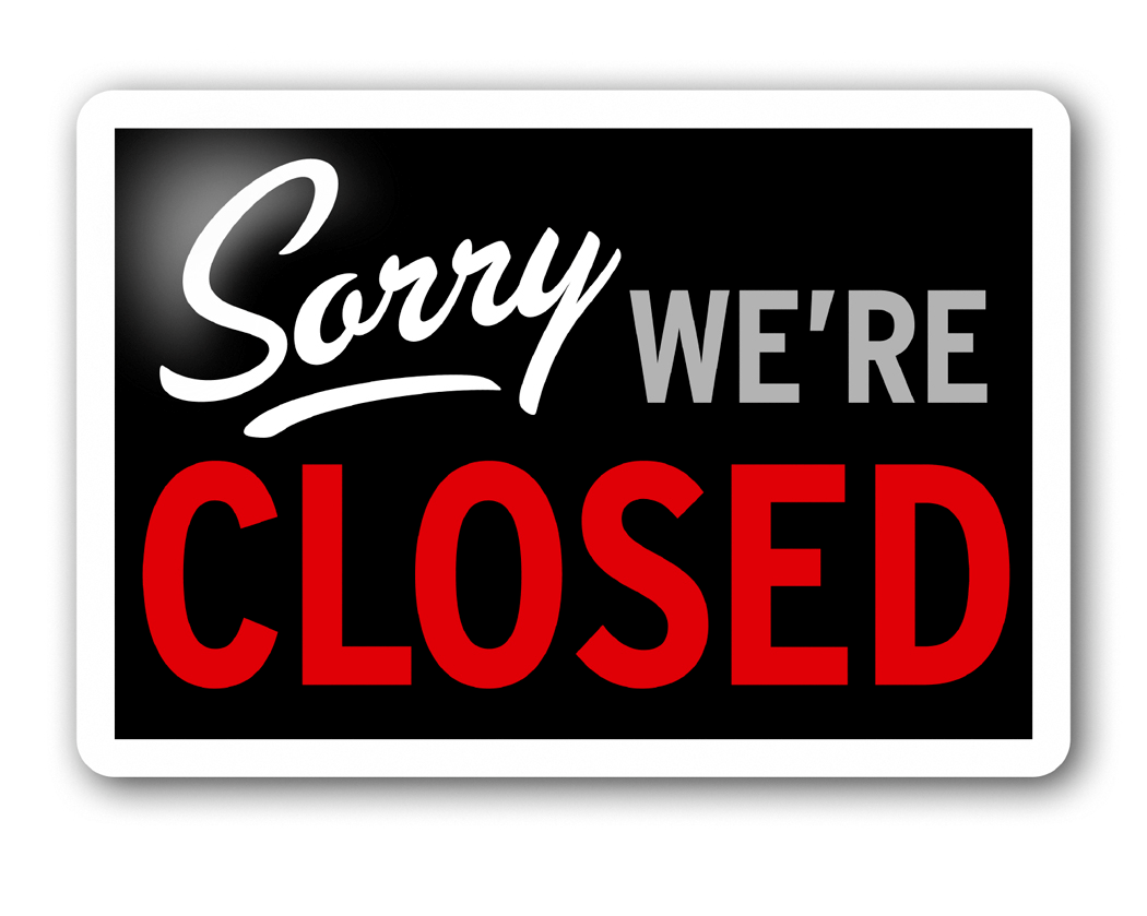Business Closed Clipart.