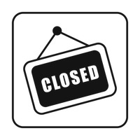 Sign Signs Closed Close Retail Retails Shop Shops Message Messages.