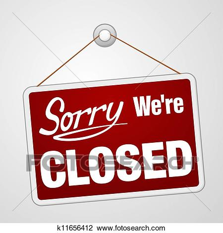 We Are Closed Sign Clipart.