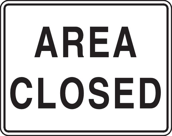 Area Closed Sign Clip Art at Clker.com.