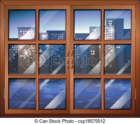 Vector Clip Art of A closed window.