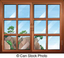 Clear window Vector Clipart Royalty Free. 959 Clear window clip.
