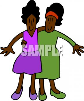 Twin Sisters Clipart.