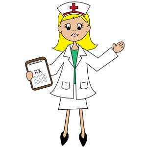 Cartoon nurse clip art.