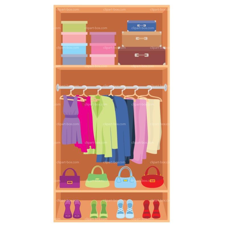 Clothes Closet Clipart.