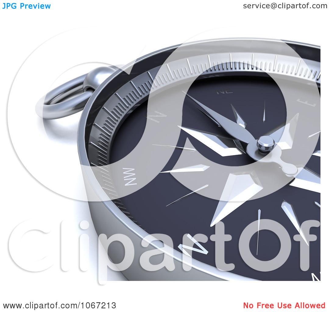 Clipart 3d Compass Closeup.
