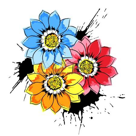 5,095 Close Up Flower Stock Vector Illustration And Royalty Free.