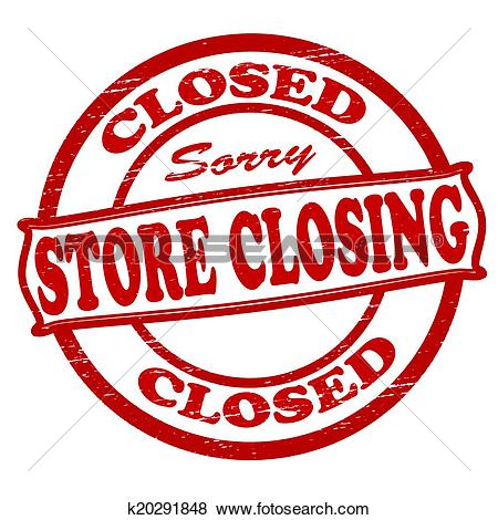Clip Art of Store closing k20291848.