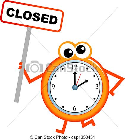 School Closings Signs Clipart.