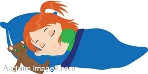 Child nap clipart.