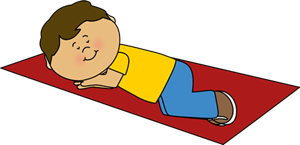 Child resting clipart.