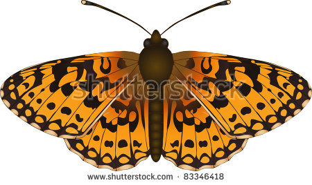 Fritillary Butterfly Stock Photos, Royalty.