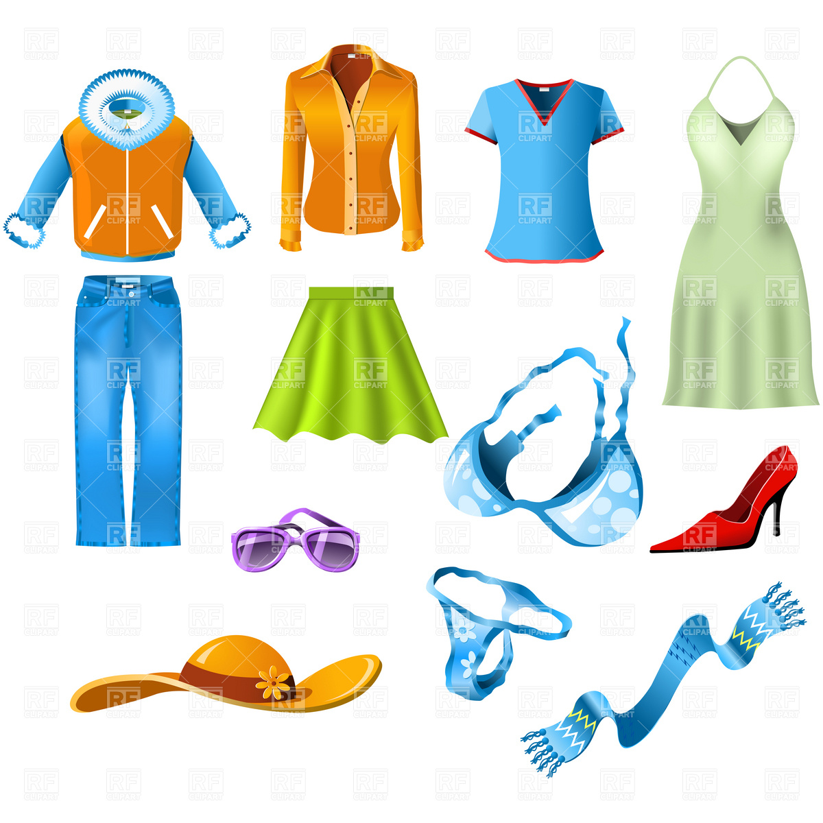 Woman clothes Vector Image #4605.