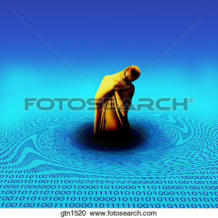 Stock Photography of human figure wrapped in cloth partially.