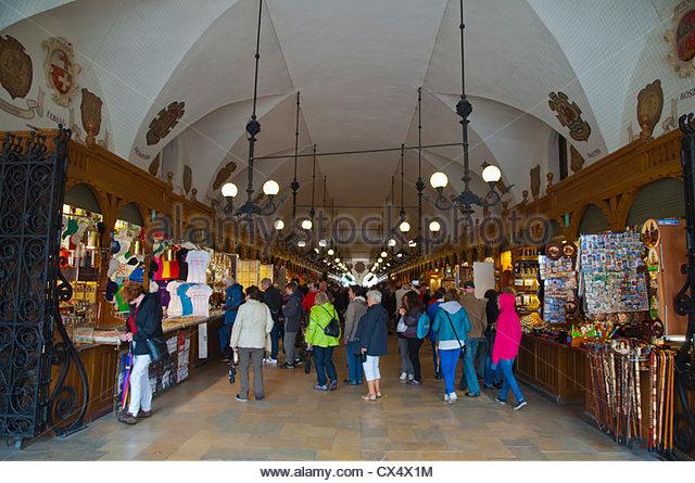 Poland Tourists Cloth Hall Sukiennice Stock Photos & Poland.