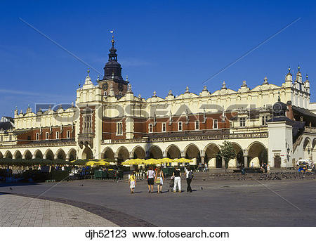 Stock Photo of Sukiennice, Cloth Hall, Old Town, Market Square.