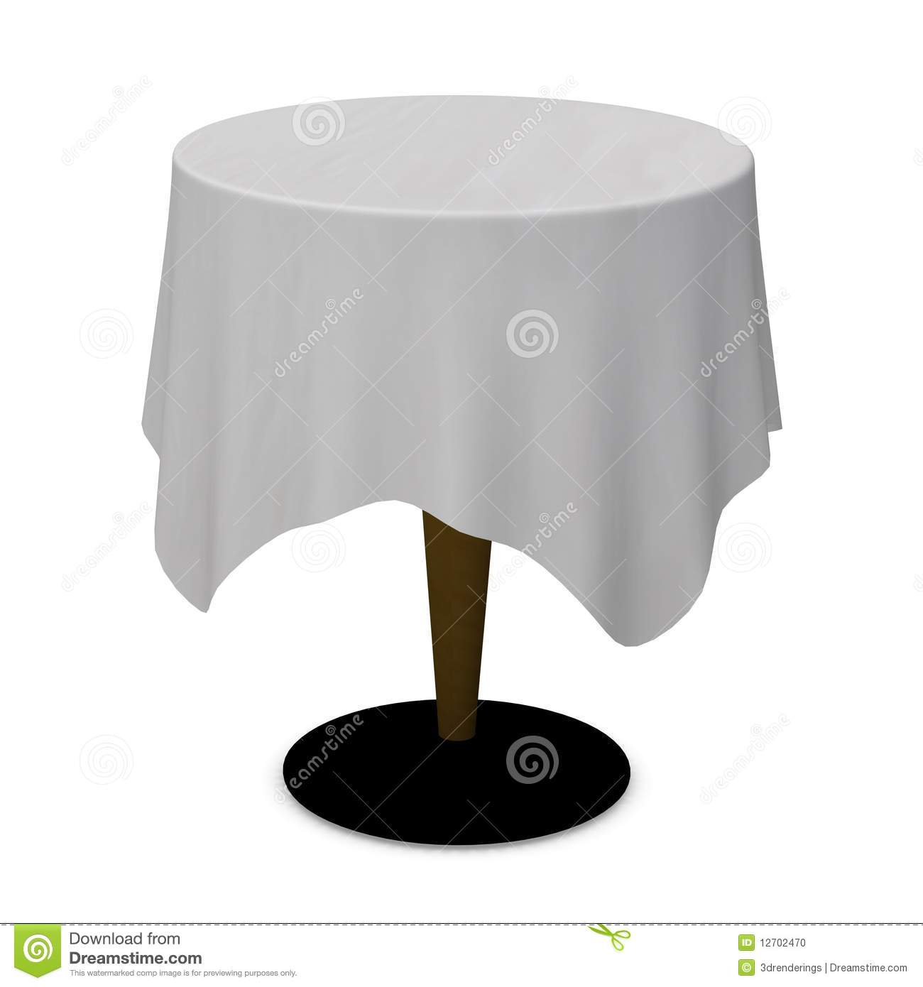 Tablecloth Stock Photo.