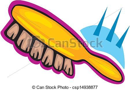 Vectors Illustration of Brush clothes vector csp14938877.