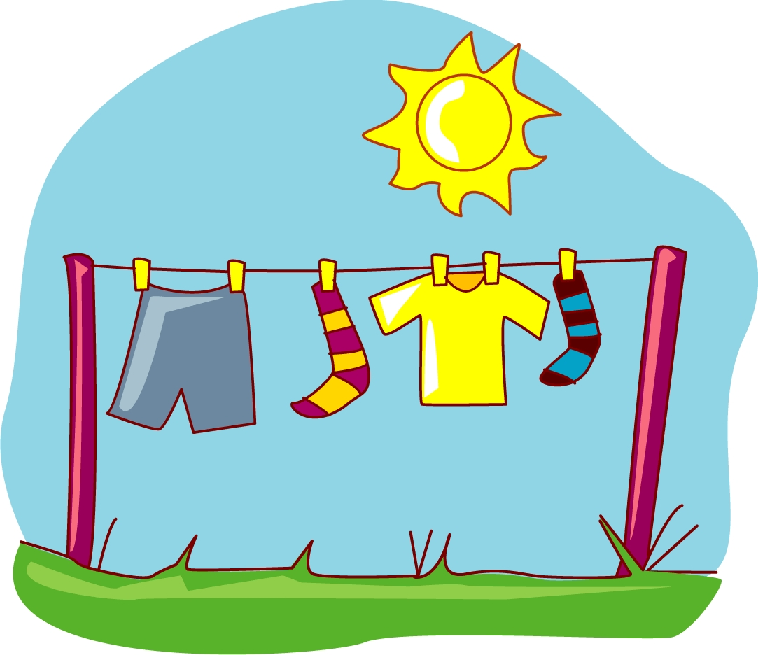 Clipart clothes dryer.