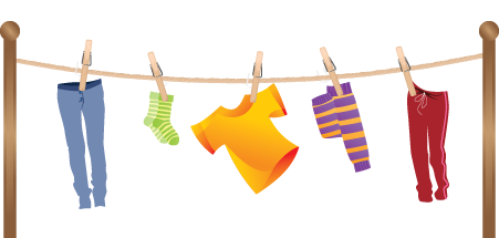 Clipart hanging clothes.