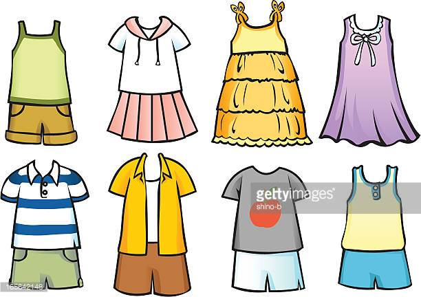 Clothes For Children Vector Art.