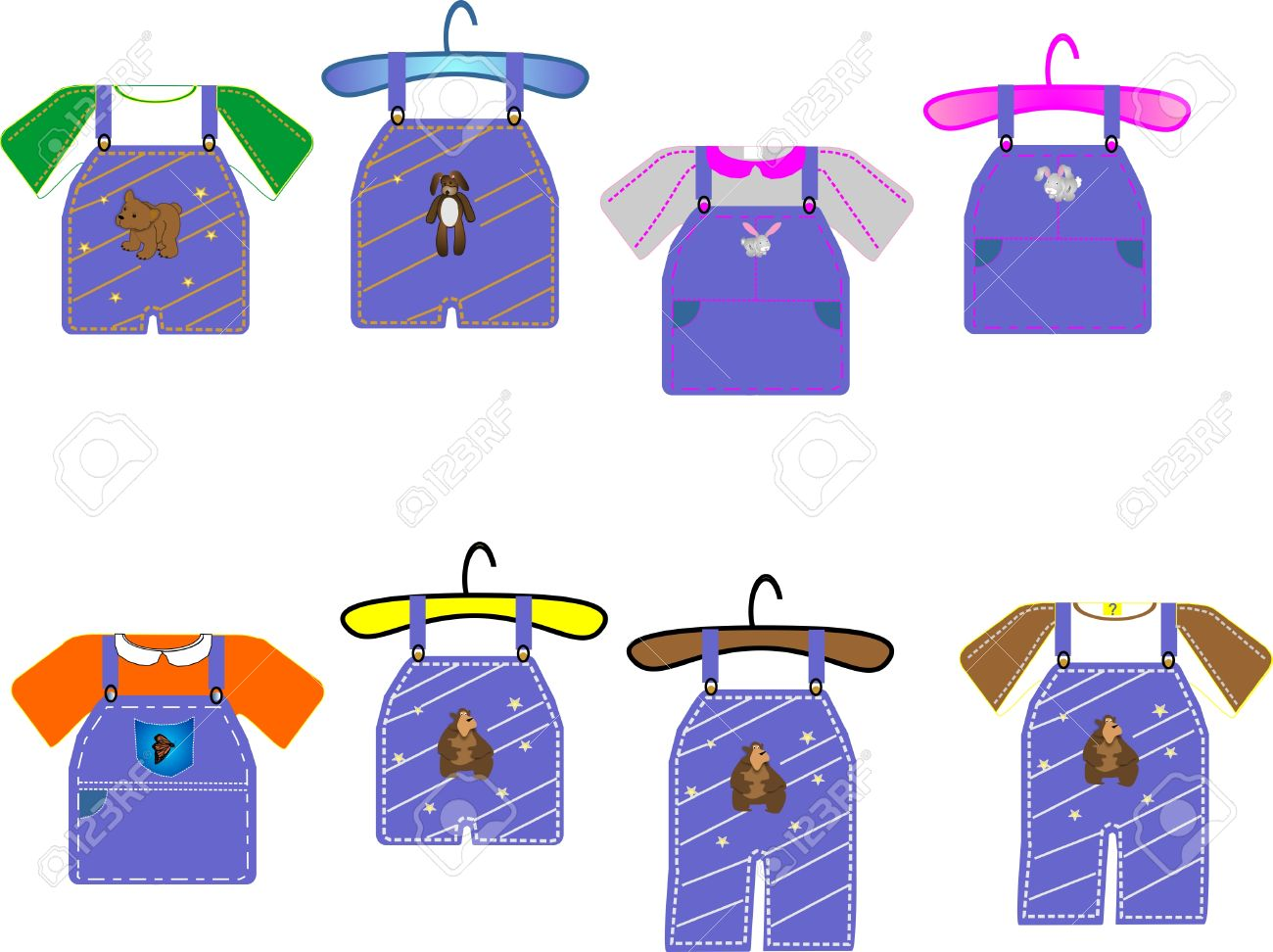 Kids Clothing For Boys And Girls, Great For Cards, Clip Art And.