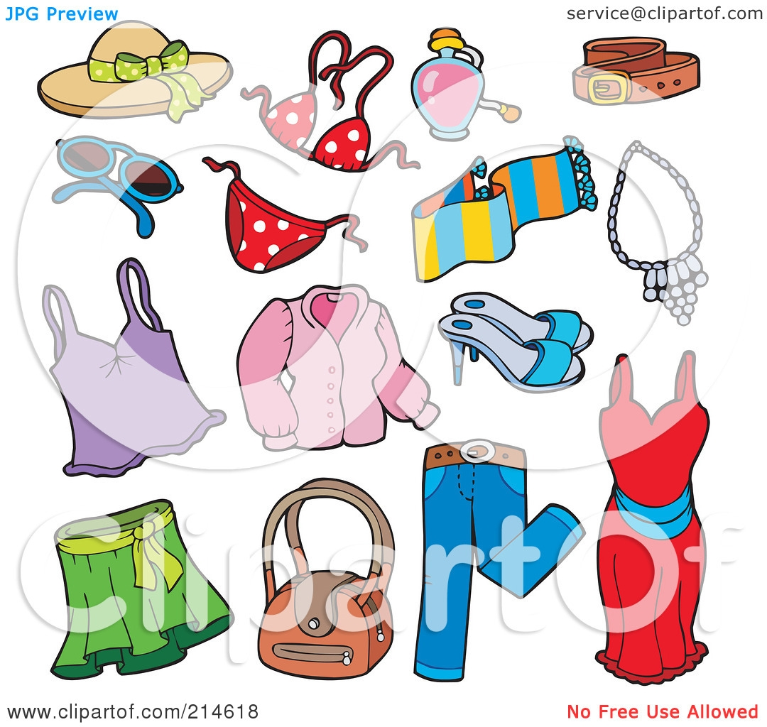 Clothes For Sunny Weather Clipart.