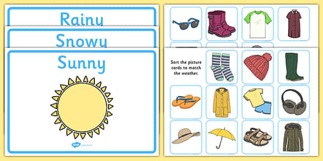 Weather Clothes Sorting Activity.