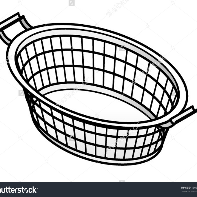 Clothes Basket Clipart.
