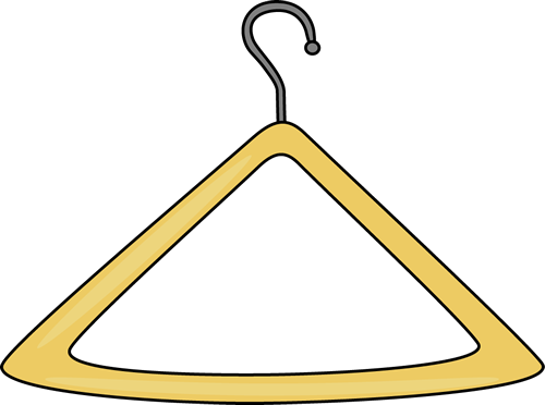 Free clip art clothes hanger.