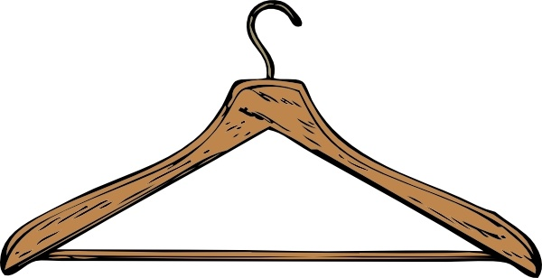 Coat Hanger clip art Free vector in Open office drawing svg ( .svg.