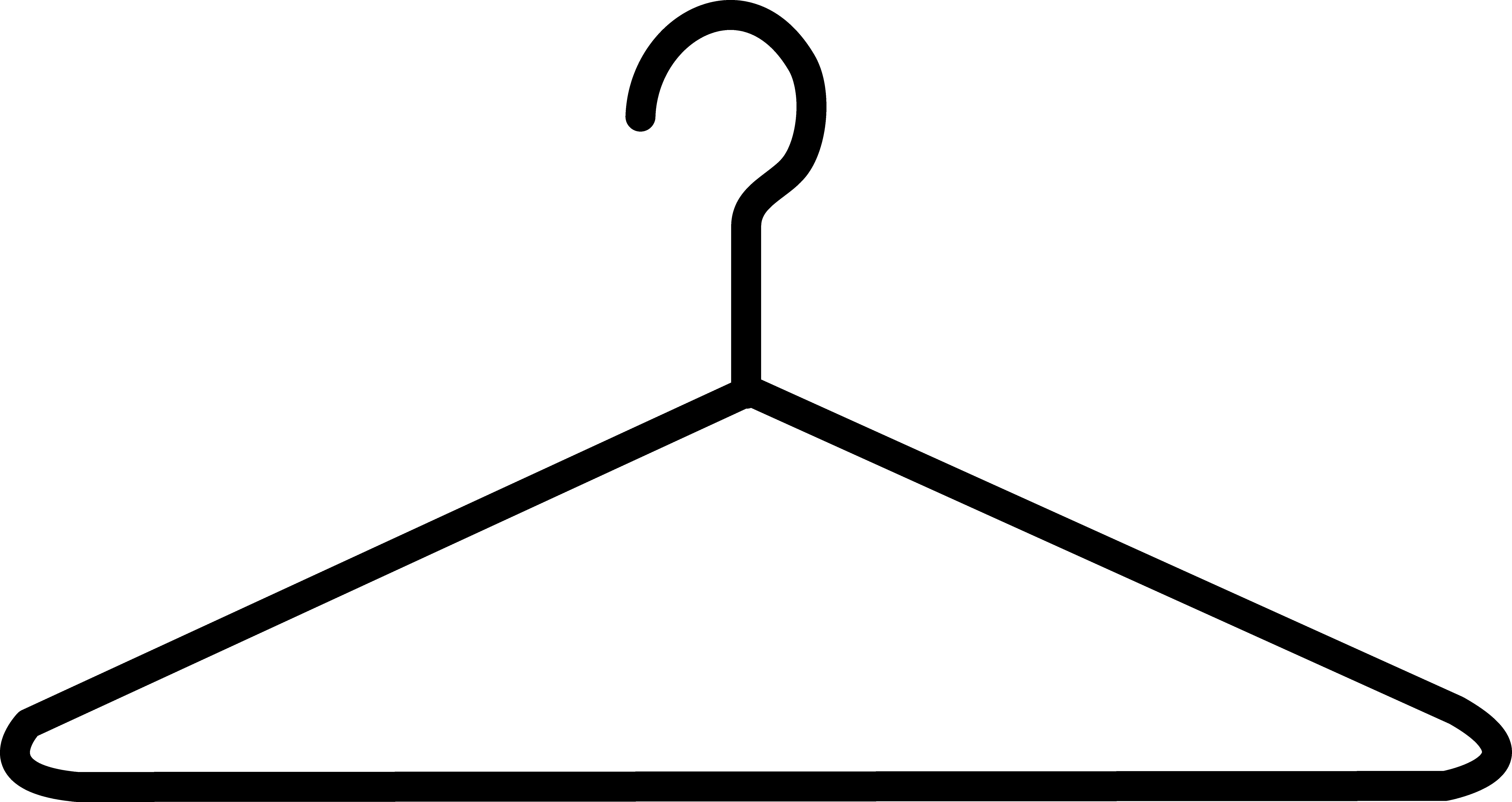 Simple Black Clothes Hanger.