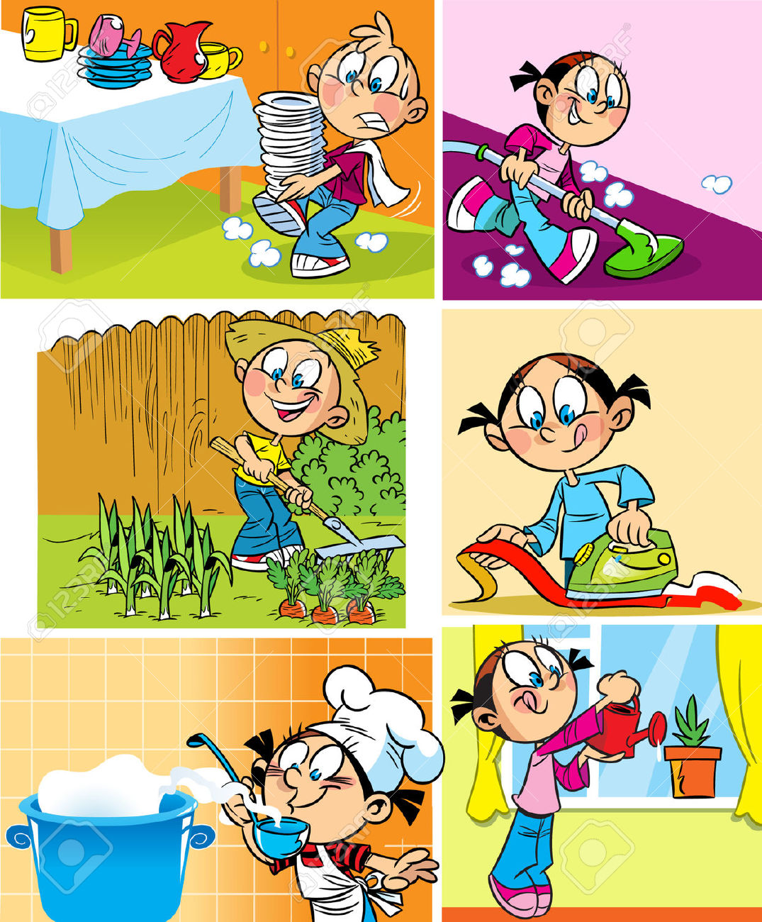 Family Cleaning House Images & Stock Pictures. Royalty Free Family.