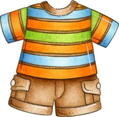 Parenting magazine clothing clipart. Great for labeling.