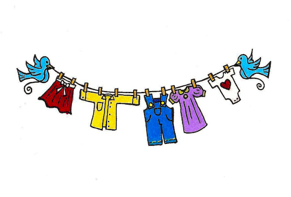 Clothes Line Clipart.