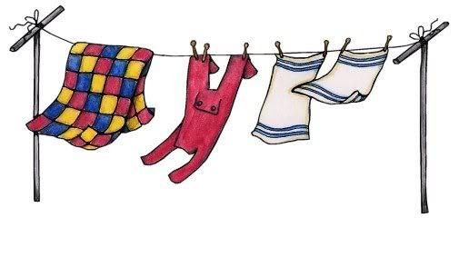 Empty Clothes Line Clipart.