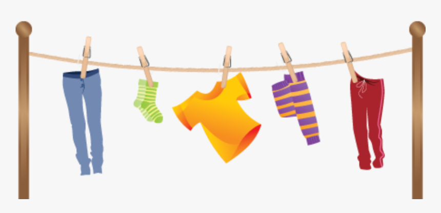 Clothes On A Clothesline Clipart, HD Png Download.